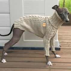Italian Greyhound apparelhandmade knitwear-linen by inksWardrobe