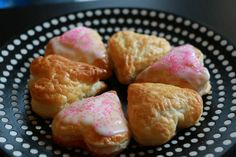 """Valentine's Day Bites: ''One of our favorite quick and easy treats are puff pastry """"bites"""" filled with jam or chocolate. Add in a heart-shaped cutter and some pink sprinkles and your sweetheart is sure to swoon...''"""