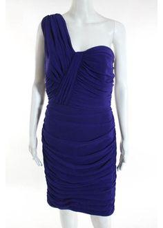 TADASHI SHOJI Dark Purple Ruched Sleeveless Knee Length Formal Dress Sz 10 #TADASHISHOJI #Shift #Formal
