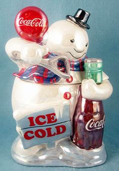 Collecting Coca-Cola Cookie Jars: Coca Cola Pearlized Snowman Cookie Jar
