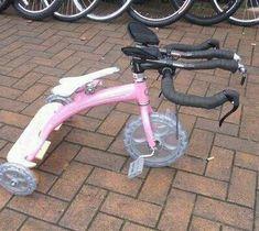 A baby Tri bike...love it! haha