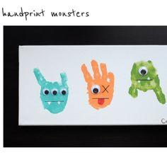 Monster Handprint Art for Monsters Inc Night