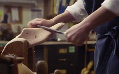 An Elegant Look At The Art Of Shoe Making. This is terrific.
