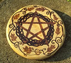Hey, I found this really awesome Etsy listing at https://www.etsy.com/listing/159783523/handmade-wood-burning-art-pentacle-and