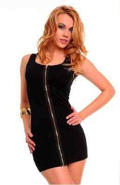 Plus Size Black Sexy Zip up Dress XXL 18 $23.95