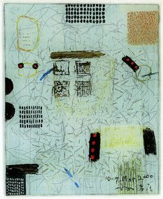 D-7.Mar.2000Reverse painting on glass 林孝彦 HAYASHI Takahiko 2000    idea for stitchery project