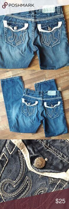 Mek denim 30-32 Surat boot Mek denim men's 30-32 Surat boot cut jeans.  EUC.  Some light fraying at hem otherwise excellent condition.   Bin#1 MEK Jeans Bootcut