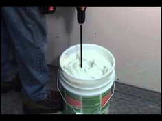 How to Mix Drywall Mud Faster - YouTube
