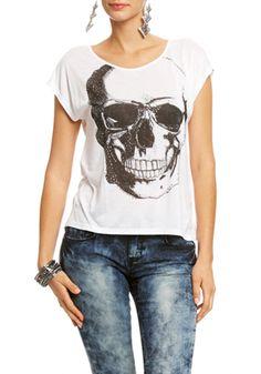 Sequin Stud Skull Top