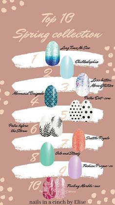 Try some of these fun nail art designs by Color Street this spring. New Nail Polish, Nail Polish Strips, Nail Polish Colors, Best Nail Art Designs, Nail Polish Designs, Nail Growth Tips, Polka Dot Nails, Crystal Nails, Color Street Nails