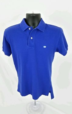 Mens callaway golf polo shirt medium mint condition blue for Mint color polo shirt