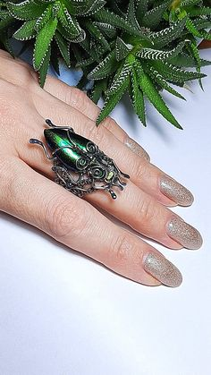 Etsy Handmade, Handcrafted Jewelry, Handmade Gifts, Insect Jewelry, Birthday Gifts For Women, Beetle, Statement Rings, Decoration, Jewelry Gifts