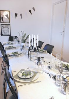 Tablesetting for new year 2015/2016 By Lassen, Table Settings, Design, Happy, Home, Brunettes, New Years Eve, Ad Home