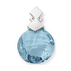 Blue Topaz Pendant https://www.goldinart.com/shop/necklaces/colored-gemstones-necklaces/blue-topaz-pendant-3 #BlueTopaz, #SterlingSilver