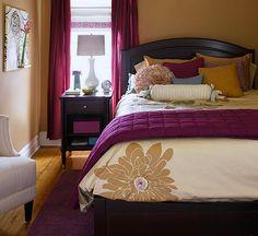 Beautiful Plum Colored Bedroom: Fascinating Plum Colored Bedroom ~ dropddesign.com Bedroom Designs Inspiration