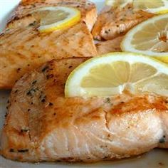 Super Simple Salmon- 1 of my favorite ways to cook salmon. I replace garlic powder with organic minced garlic & add a little more basil & garlic. I also add a little lemon juice to the seasoning.