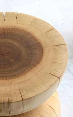 Perhaps a Vogel stool for BDDW?  Very similar to the work done by Romanian sculptor Constantin Brancusi.  Lovely sugar maple, hand turned.