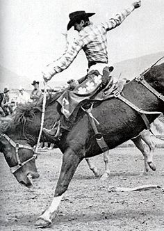 "Casey Tibbs on ""Wood Burn"" - Saddle Bronc Riding"