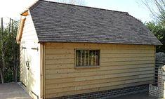 Oak Framed Single Bay Building and Garage