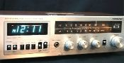 Retro Soundesign AM/FM Stereo Electronic Clock Radio from Vintage Basement.
