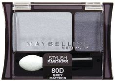 Maybelline New York Expert Wear Eyeshadow Duos, 80d Grey Matters Stylish Smokes, 0.08 Ounce by Maybelline, http://www.amazon.com/dp/B0013N5XAU/ref=cm_sw_r_pi_dp_BBnGqb1162Q0V