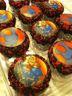 Old school 80s thundercats cupcakes