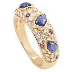 Cartier Precious Gemstone Gold Band Ring