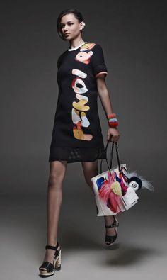 Fendi resort collection 2015 handbags go printed. www.handbag.com