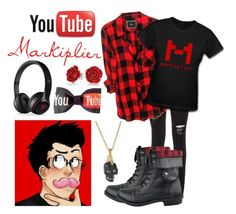 """""""YouTube-Markiplier"""" by zombielover100 ❤ liked on Polyvore featuring Rails, Alexander McQueen, Bling Jewelry and Black Apple"""