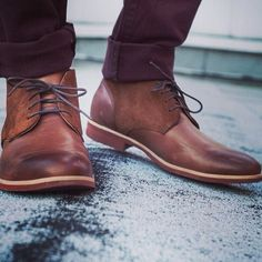 These are more of a formal version of the dessert boot...but you could still dress them down with jeans or kakies.
