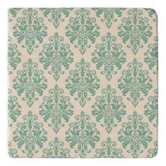 Elegant Vintage Retro Damask Pattern Trivet - antique gifts stylish cool diy custom