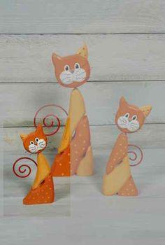 Katze bunt klein orange -