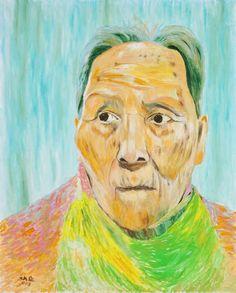 Sanghoon Oh, 어머니 Mother, Oil on canvas 162x130cm 2011