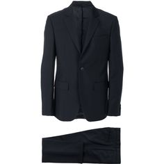 Givenchy Wool Suit (1,824,335 KRW) ❤ liked on Polyvore featuring men's fashion, men's clothing, men's suits, black, mens tailored suits, mens two piece suits, givenchy mens clothing, mens wool suits and merino wool mens clothing