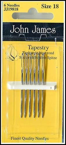 6 TAPESTRY HAND SEWING NEEDLES size18 - John James John James, Sewing Needles, Needles Sizes, Tents, Hand Sewing, Tapestry, Tableware, Ebay, Lace