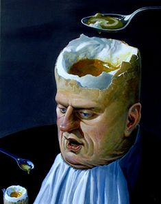 Greedheads, preying priests and oligarchs: The politically-charged surrealist paintings of Ole Fick Surrealism Painting, Pop Surrealism, Surrealism Photography, Art Photography, Levitation Photography, Exposure Photography, Art Visionnaire, Lowbrow Art, Egg Art