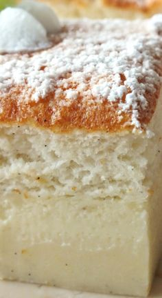 Smart Cake Recipe ~ Made with one batter that separates into three separate and distinct layers while baking... Easy and impressive