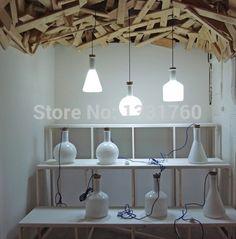 497.22$  Buy now - http://alidfy.worldwells.pw/go.php?t=1950685681 - magic bottle unit large 3 lamps as an unit Modern Benjamin Hubert Labware Pendant Lamp Reproduction Lamp glass pendant light 497.22$