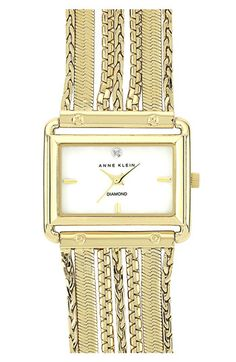 Anne Klein Square Chain Bracelet Watch available at #Nordstrom