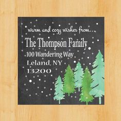 Holiday labels at Toodle Loo Workshop on #Etsy