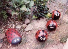 In Loving Memory Lady Bug Bowling Balls by my Mom :)