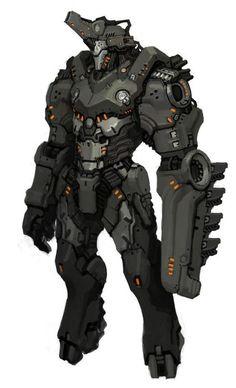 scifi-fantasy-horror: sf-concept by dokdie Robot Concept Art, Armor Concept, Space Opera, Arte Robot, Futuristic Armour, Mekka, Cool Robots, Sci Fi Armor, Future Soldier