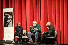 Incontro con Francesco Guccini   Insieme al cantautore Ernesto Assante e Gino Castaldo   Ph. S. Barone
