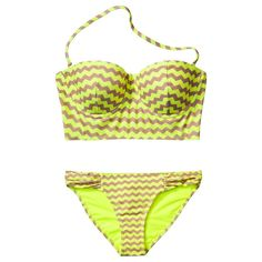Classic stripes get thrown overboard in favor of something with a little more verve and swerve like this Xhilaration molded top and bikini bottom.