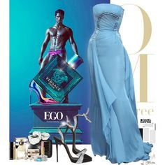 The depth of the Versace Ocean by eleonoragocevska on Polyvore featuring Christian Louboutin, Giuseppe Zanotti, Nancy Gonzalez, Lagos, Clarins, Chanel, Yves Saint Laurent, Versace and Sergio Rossi