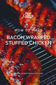 Bacon Wrapped Stuffed Chicken | Best Recipe For Stuffed BBQ Chicken | Stuffing And Grilling Chicken How To
