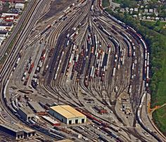 I was not aware the Norfolk and Southern RR yard was so large.