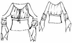 example - #5278 Raglan sleeves blouse with braid