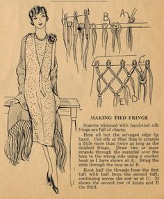 Home Sewing Tips from the 1920s - Timeless Tied Fringe Edging | The Midvale Cottage Post