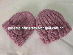 Artes na Passarela: Gorro em tricô canelado